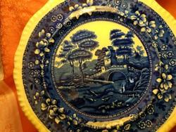 Antique English bowl, plate, centerpiece