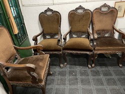 Wonderful wines for sale under the price, 4 armchairs + 3 chairs to be collected