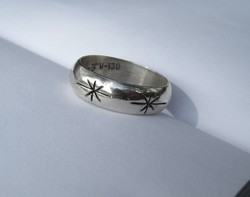 Old Mexican Star Silver Ring - 1 ft Auctions!