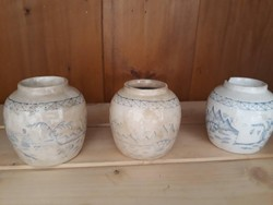 19.An antique Chinese ginger / tea herb holders
