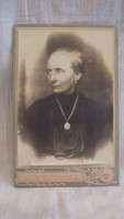 Antique photo of female portrait