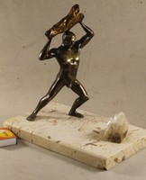 Bronze statue on a marble base 618