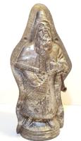Huge antique Santa chocolate mold / 33 cm!