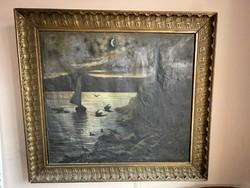 Gigantic antique Alexander painting