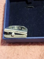 Special thick 15g silver ring is novel