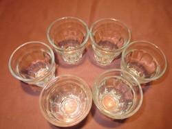 6 db retro kávés üveg pohár