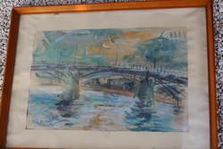 Tóth b. László watercolor painting