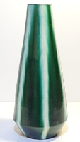 Antik art deco csíkos váza / 32cm!