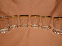 6 db retro arany szélű kávés pohár