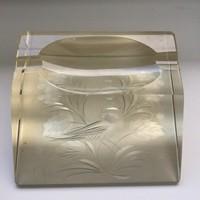 Old polished crystal ashtray