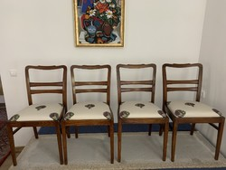 Art deco chairs, renovated, with artichoke upholstery
