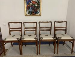 Art Deco székek , felújítva, articsókás kárpittal