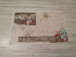 Antique greeting postcard.