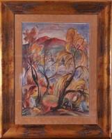 József Csaba Wágner (Hungarian, 1888-1967) autumn