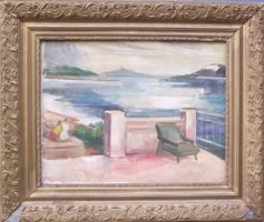 Ismeretlen művész, tengerre néző erkély