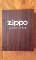 3D original zippo with leather case in one