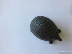 Cast iron hedgehog garden keychain