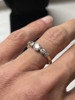 1 Forintról!!! Arany Art Deco Briliáns Gyűrű 0,6 karát!