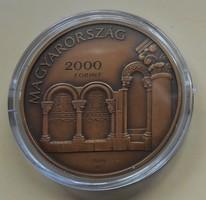 Esztergom  Vízi város, Nemzeti emlékhelyek sorozat 2017 bronz patinázott UNC. 2000ft