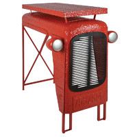 Metal tractor table (red)