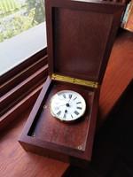 Hamilton wooden box table clock