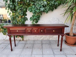 Antique style 5 drawer style console table