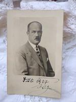 Antique German v. Austrian photo sheet, male portrait 1927