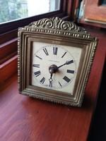 Copper case table clock