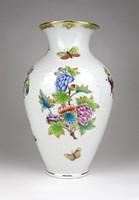 1C747 old flawless victorian pattern Herend porcelain vase 23.5 Cm