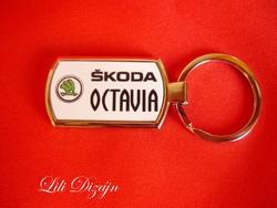 Skoda octavia metal keychain