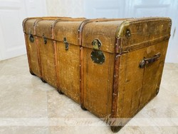 Large antique travel suitcase for table