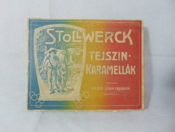 Stollwerck cream caramels in paper box