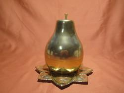 Retro körte likőrös-pálinkás készlet 6 kis üveg pohárral