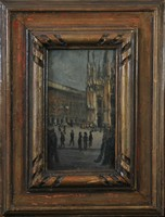 Martin Jedele (1904-1966) street scene