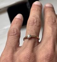 1 Forintról! Arany Art Deco briliáns gyűrű.