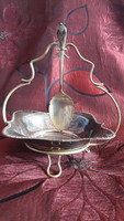 Old silvered table with spicy spoon