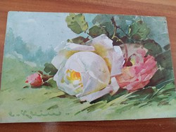 Antique postcard sent for name day