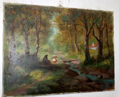 Antique Signed Painting 621