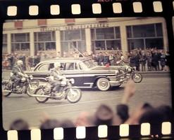 Khrushchev in Budapest - 1964 - photo negative