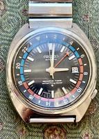 Seiko navigator timer vintage automatic waterproof watch!