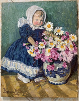 Boemm ritta: child with bouquet of flowers