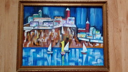 Significant art deco painting!