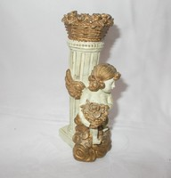Gilded putto, angel table ornament, candlestick