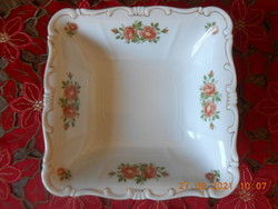 Zsolnay rose pattern garnish, salad bowl
