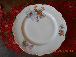 Antique zsolnay bouquet with patterned, beaded serving bowl