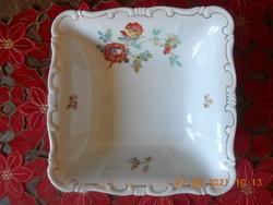 Zsolnay wild rose pattern garnish, salad bowl