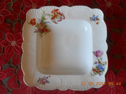 Zsolnay antique, bouquet patterned, beaded serving bowl
