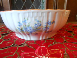 Zsolnay forget-me-not patterned cake bowl