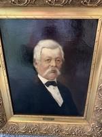 Than Mór: Idős férfi Portré