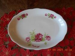 Zsolnay antique, rose patterned fried / meaty / steak bowl